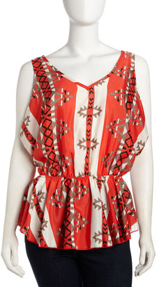 Romeo & Juliet Couture V-Neck Tribal Top