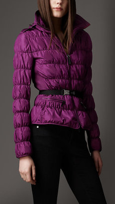 Burberry Belted Satin Puffer Jacket