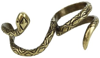 House Of Harlow Engraved Snake Double Finger Wrap Ring