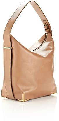Alexander Wang Prisma Skeletal Hobo In Latte With Yellow Gold