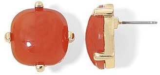 JCPenney Asstd Private Brand Gold-Tone Burnt Orange Square Stud Earrings