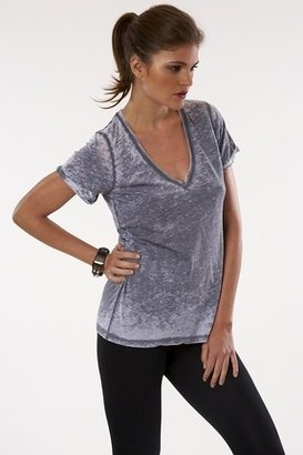 Fluxus Loose Burnout V-Neck in Black $69 thestylecure.com