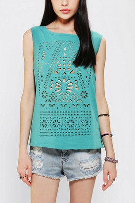 Urban Outfitters Title Unknown Lasercut Muscle Tee
