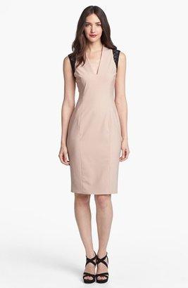 Rachel Roy Stretch Wool Sheath Dress