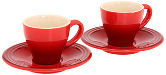 Le Creuset Espresso Cups and Saucers - Set of 2