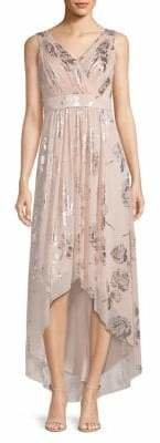 Eliza J Printed High-Low Dress