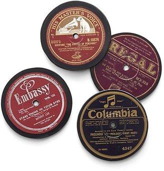 Crate & Barrel Set of 4 Record Coasters