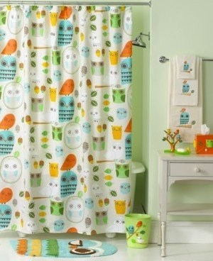 Creative Bath Accessories, Give a Hoot Shower Curtain Bedding