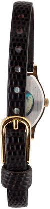 American Apparel Citizen Black/Gold Ladies' Leather Band Watch