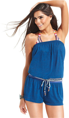 Lucky Brand Cover Up, Strapless Romper