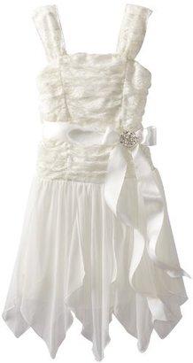 My Michelle Girls 7-16 Shirred Bodice Dress