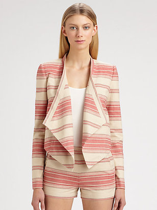 BCBGMAXAZRIA Abby Striped Jacket
