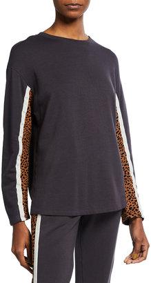 Monrow Supersoft Fleece Paneled Boyfriend Sweatshirt