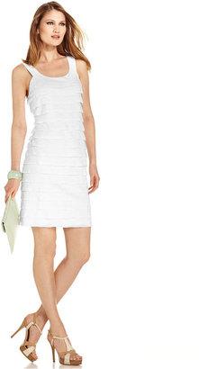 Amy Byer Dress, Sleeveless Tiered Shift