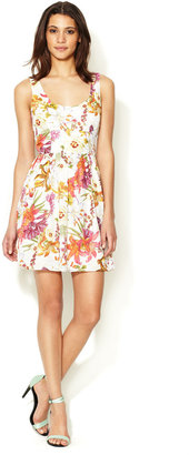 BB Dakota Mayfair Printed Charmuese Dress