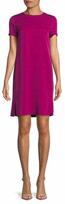 Theory Short-Sleeve Silk T-Shirt Dress