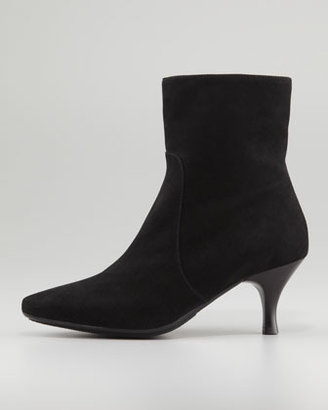 Aquatalia by Marvin K Mila Suede Kitten-Heel Bootie, Black