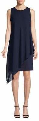 Karl Lagerfeld Paris Sleeveless Chiffon Overlay Dress