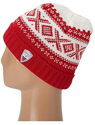 Dale of Norway Cortina 1956 Hat (B-Raspberry/Off White) Knit Hats