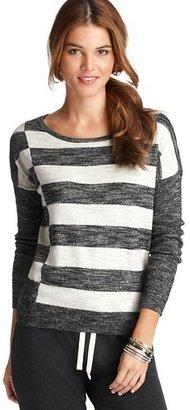 LOFT Graphic Stripe Drop Shoulder Sweater