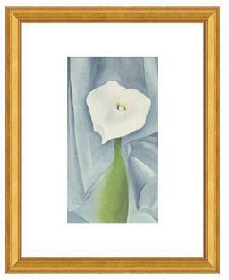 CALLA O'Keeffe, Lily on Grey, 1928