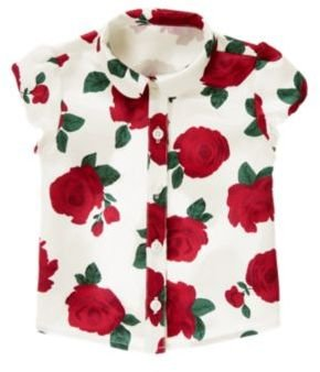 Crazy 8 Rose Floral Charmeuse Top