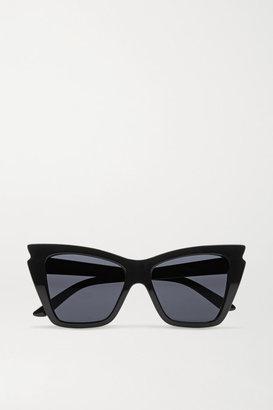 Le Specs - Rapture Cat-eye Acetate Sunglasses - Black $60 thestylecure.com