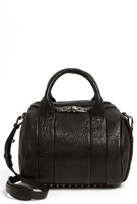 Alexander Wang 'Rockie - Black Nickel' Leather Crossbody Satchel - Black $795 thestylecure.com