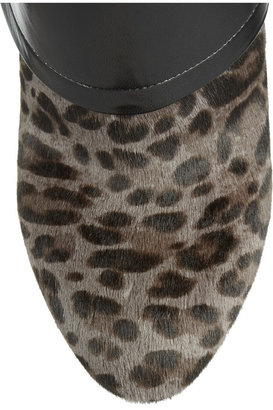 Jimmy Choo Leopard-print calf hair and nappa leather ankle boots
