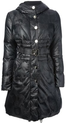 Versace belted padded coat