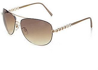 Steve Madden Metal Aviator Sunglasses