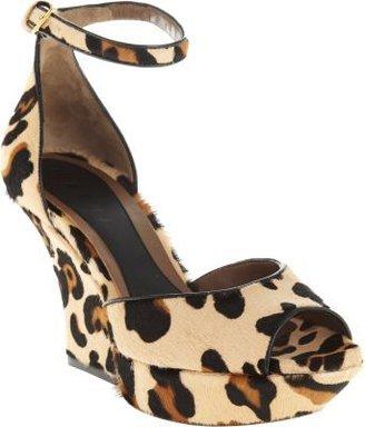 Marni Leopard Pony-Hair Platform Sandal