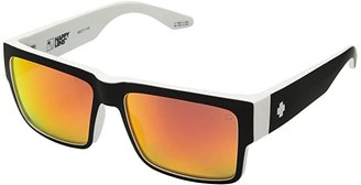 Spy Optic Cyrus (Cyrus Whitewall - HD Plus Gray Green With Red Spectra Mirror) Sport Sunglasses