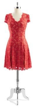 ABS by Allen Schwartz Lace A-line Dress