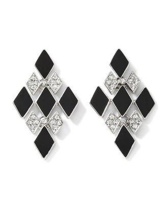 White House Black Enamel Diamond Earring