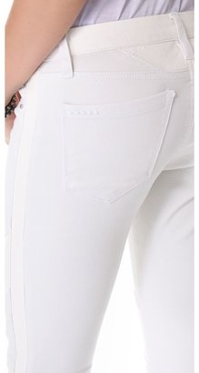 Blank Combo Skinny Jeans with Vegan Leather