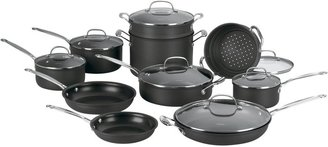 Cuisinart 66-17 Chef's Classic Nonstick Hard-Anodized Cookware Set 17pc, Steel