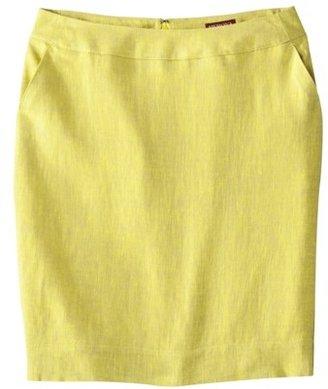 Merona Women's Linen Pencil Skirt - Vibrant Yellow