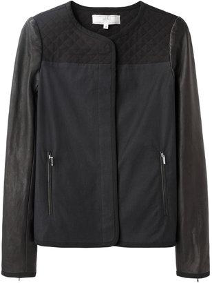 Vanessa Bruno Leather Sleeve Jacket