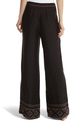 White House Black Market Border-Print Pant