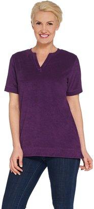 Denim & Co. Essentials Knit Terry Short Sleeve Top