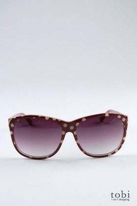Ksubi Milka Sunglasses in Brown & Beige