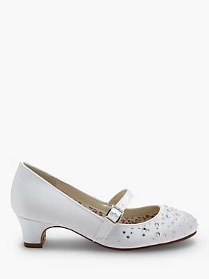 Rainbow Club Cherry Bridesmaid Shoes, White Communion