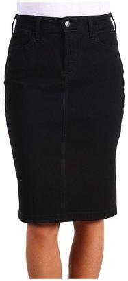NYDJ Emma Denim Skirt in Black (Black) - Apparel
