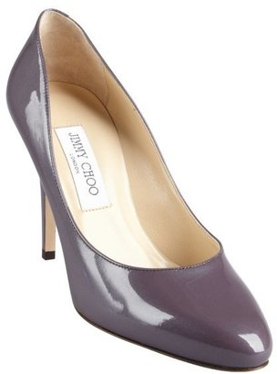 Jimmy Choo steel lavender patent eather tapered round toe 'Vikki' pumps