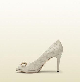 Gucci New Hollywood Guccissima Leather Mid-Heel Pump