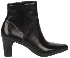 Franco Sarto Track High-Heel Leather Ankle Boots