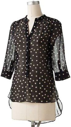 Lauren Conrad polka-dot chiffon blouse