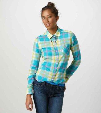 American Eagle AE Plaid Girlfriend Shirt