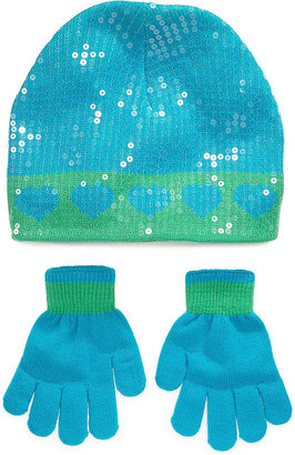 Berkshire Kids Set, Girls or Little Girls Heart-Print Hat and Gloves